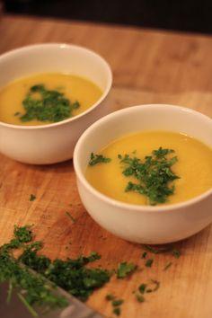 Sopa de Abóbora e Maçã com Gengibre  - As Minhas Receitas