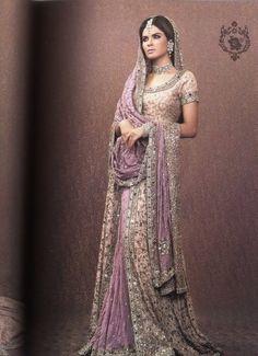 pakistani bridal outfits lavender - Google Search
