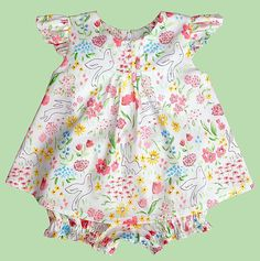 """Baby dress pattern, baby sewing pattern, baby blouse pattern, """"The Kailyn Pattern"""" Cute Dresses, Girls Dresses, Baby Dresses, Baby Girl Patterns, Dress Sewing Patterns, Pattern Dress, Fit Girl, Textiles, Blouse Dress"""