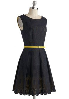 Hidden Gold Dress, #ModCloth.... the most expensive... everytime, without fail...