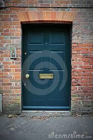 blue front doors with red brick houses - Google Search
