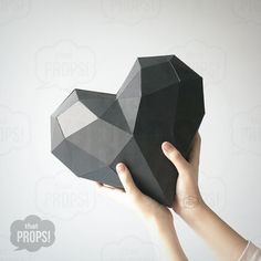 Papier-Props - 3D Papier Herzen Prop, Photobooth Prop, Foto Stand Stütze Basteln, Papier Handwerk, faltbare Herz, DIY Props Vorlage, 3D Model-Vorlage