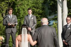 Amazing groom's reaction as she walks down the aisle!    Kansas City weddings, Eighteen Ninety weddings, wedding photos, bride and groom, wedding ceremony, outside wedding  Kansas City Wedding Photographer - http://melissasigler.net
