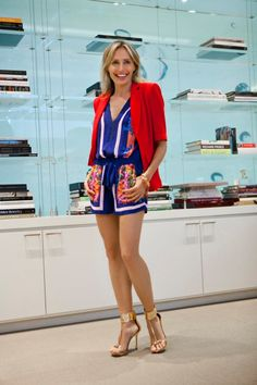 This cute and colorful BCBG outfit is fab (and so is Lubov's whole closet) #r29summerstyle