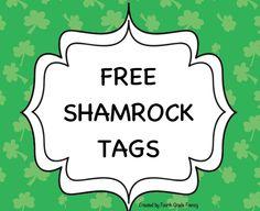 """FREE LESSON - """"Shamrock Tags"""" - Go to The Best of Teacher Entrepreneurs for this and hundreds of free lessons.  Kindergarten - 5th Grade  #FreeLesson  http://www.thebestofteacherentrepreneurs.net/2014/03/free-misc-lesson-shamrock-tags.html"""