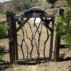 Rustic Garden Gates | Rustic garden gate. Just got a new cedar fence maybe this could be the ...