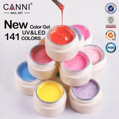 2015 Colors CANNI Solid Pure Glitter UV Soak Off Gel Paint Set Nail Art False Tips  Salon Fashion Beauty Must Have 501-515