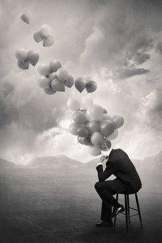 creative surreal balloons photography