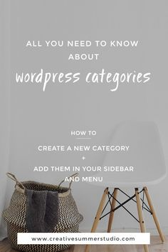 Learn all you need to know about WordPress categories from this simple tutorial for bloggers, website owners, small business owners, solopreneurs, entrepreneurs and those who want to know how to make small changes to their WordPress website.