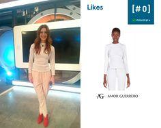Guapísima #RaquelSanchezSilva con jersey de Amor Guerrero en programa Likes Cero de #Movistar.