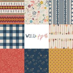 Wild & Free Fat Quarter or Half Yard Bundle | Maureen Cracknell for Art Gallery Limited Edition