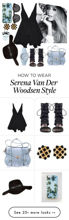 """Serena van der woodsen"" by sophiewb on Polyvore featuring Zimmermann, Ella Rabener, Yves Saint Laurent, River Island, Illesteva, Forever 21, Chanel and Kate Spade"