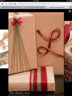 Yarn holiday gift wrap