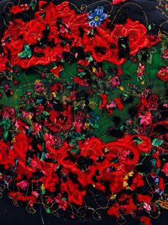 Romani Unique red pattern 2014 gypsy roma style rose fashion textile rose inspiration  hungary budapest