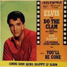 DO THE CLAM / YOU'LL BE GONE | ELVIS PRESLEY | Min Bid: $20.00 AUD | 7 inch single | music4collectors.com