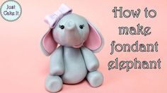 How to make a baby elephant out of fondant. Fondant used has been treated with Tylose powder so it will set harder. Fondant Elephant Tutorial, Fondant Giraffe, Fondant Cat, Fondant Animals, Fondant Cake Toppers, Fondant Rose, Cupcake Toppers, Baby Elephant Cake, Elephant Cake Toppers