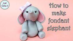 Fondant cake toppers #10: Fondant elephant tutorial - CakesDecor