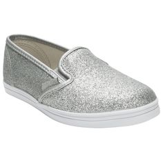 Vans Girls Youth Off The Wall Glitter Slip on