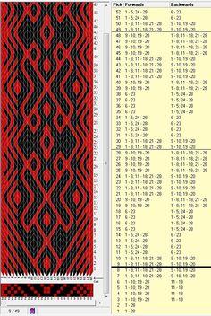28 tarjetas, 2 colores, 8 movimientos de inicio y repite cada 20 movimientos // sed_332 diseñado en GTT༺❁