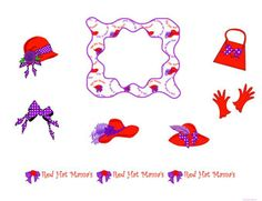 Printable Red Hat Clip Art | Free printable, digital, scrapbook template pages, Red Hats, Red hat ...