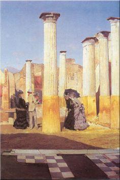 Les Forums de Pompéi by Giuseppe de Nittis (Italian 1846-1884)