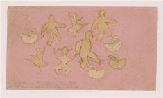 Hans Christian Andersen, Paper cutting, 1867 Pierrots, ballerinas, swans ...