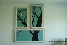 repurposed window art