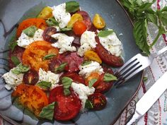 There's really nothing to it: Get the absolute best-quality tomatoes, olive oil, basil, and mozzarella you can find, put them on a plate, sprinkle with salt and pepper, drizzle with olive oil, and serve. The hardest part is resisting the temptation to add anything else, but stay strong and step away from the balsamic vinegar.