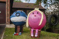 Yoga balls to make mr men and little miss