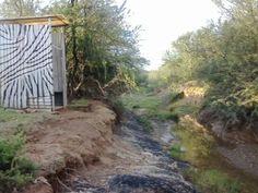 Longdrop by my zebrastroois, oppi fontein se wal