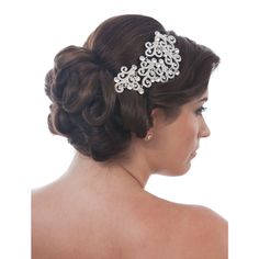 Roberta Trailing Swirl Comb - in Swarovski Crystal - Bridal Jewellery - Crystal Bridal Accessories