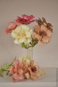 Цветы ручной работы. Ярмарка Мастеров - ручная работа. Купить Цветок из соломки.. Handmade. Плетение из соломки, букет в подарок, цветы