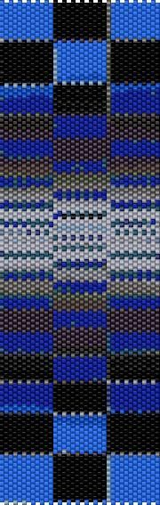 BPOB0001 Optical Blue Even Count Single Drop Peyote Cuff/Bracelet Pattern