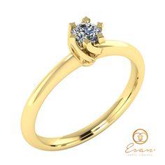 Inel de logodna din aur galben cu diamant ES1 Aur, Engagement Rings, Jewelry, Enagement Rings, Wedding Rings, Jewlery, Jewerly, Schmuck, Jewels