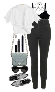 """Untitled #561"" by lindsjayne ❤ liked on Polyvore featuring Topshop, Alexander Wang, Sergio Rossi, Twin-Set, ASOS, Michael Kors, Yves Saint Laurent, BBrowBar and Christian Dior"