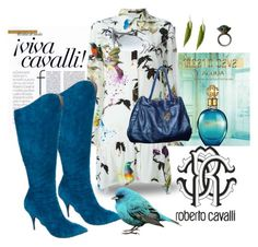 """""""Shirt Dress - Roberto Cavalli"""" by happychristy ❤ liked on Polyvore featuring Roberto Cavalli"""