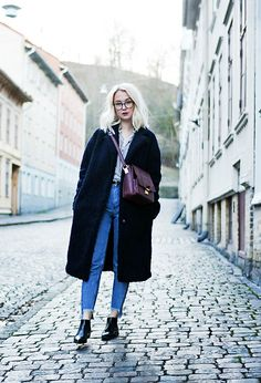 Get this look: http://lb.nu/look/8550835  More looks by Nathalie R: http://lb.nu/nathafsr  Items in this look:  Bikbok Jacket, Secondhand Bag, Monki Jeans, Gina Tricot Shirt   #classic #retro #vintage #style #sweden #love #monki #ginatricot #streetstyle