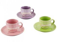 Conjunto de Xícaras em Porcelana 12 Peças - Bon Gourmet Colors com as melhores condições você encontra no Magazine Simply. Confira!