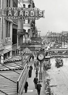 Canal Street in New Orleans circa 1910.