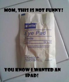 Moms can be so cruel sometimes! haha   #iPad