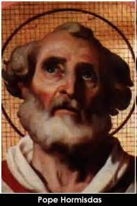 St. Pope Hormisdas (450 – 523)  He was born at Frosinone, Campagna di Roma, Italy. Before becoming a Roman deacon, Hormisdas was married, and his son would in turn become ...(Read the rest of the story here:) https://www.facebook.com/St.Eugene.OMI?ref=hl