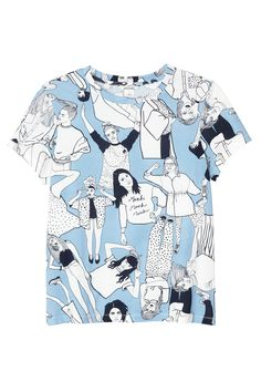 The one basic you can't live without: the round-necked tee with super stylish girly graphics in cotton! colour: print perfection In a size small the chest width is 89 cm and the length is 61 cm. The model is 167 cm and is wearing a size small. White Cotton T Shirts, White Tees, Cotton Tee, Old School Fashion, Conversational Prints, Graphic Shirts, Printed Tees, Monki, Tee Shirt