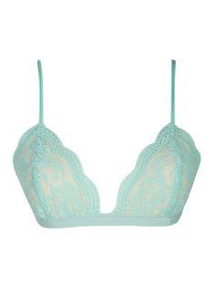 Mint Lace Triangle Soft Bra