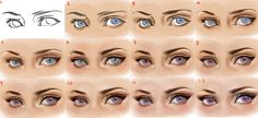 Eyes, step by step by sakimichan on deviantART
