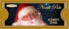 FREE PRINTABLE North Pole Tickets. Feel free to download, print and enjoy with your kids, family and friends. Happy Holidays and Merry Christmas from KSE Graphics :)