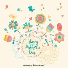 Tarjeta bonita para el día de la madre