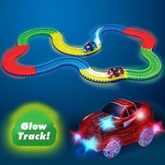 Glowing Racing Set