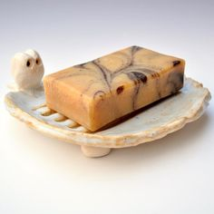 Owl Soap Dish ceramic owl pottery dish Wooland by OneClayBead