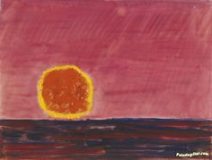 Ringed Sun Artwork by Milton Avery Hand-painted and Art Prints on canvas for…