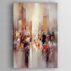 lienzos pintados para la pintura al óleo moderna del paisaje abstracto con la mano estirada enmarcada - USD $ 62.99